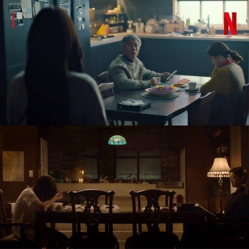 Adegan tokoh utama dengan orang tua masing-masing.  Sumber gambar: Netflix