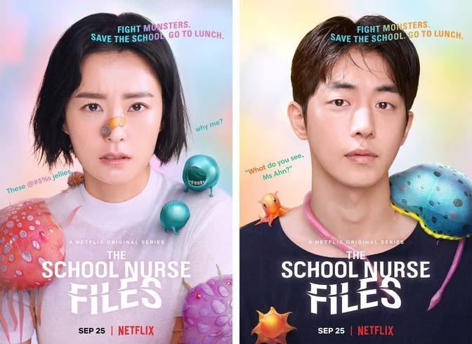 Karakter Poster Drama The School Nurse File (Sumber gambar: Netflix)