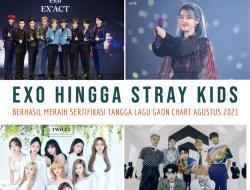 EXO Hingga STRAY KIDS Berhasil Meraih Sertifikasi Untuk Kategori Bulan Agustus 2021 dari Tangga Lagu Gaon Chart