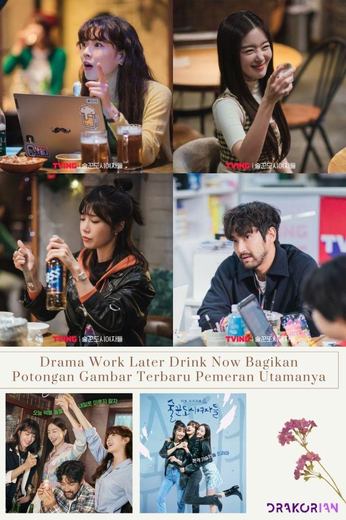Drama Work Later Drink Now Bagikan Potongan Gambar Terbaru Pemeran Utamanya