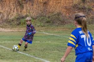 Callum plays soccer