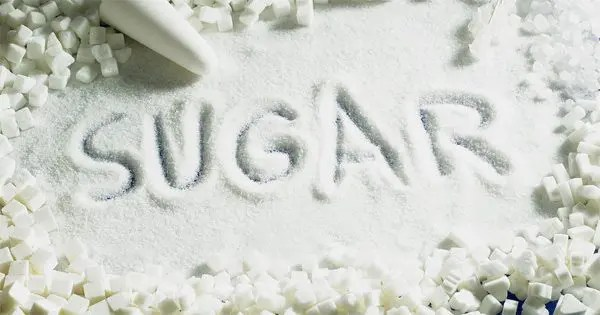blog picture of sugar with the word sugar spelled into it