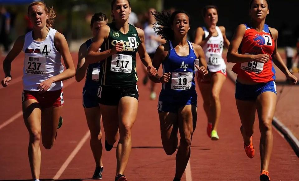 female runners in a race