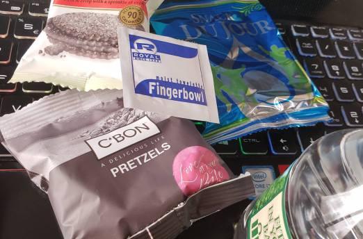 Amtrak snacks tiny