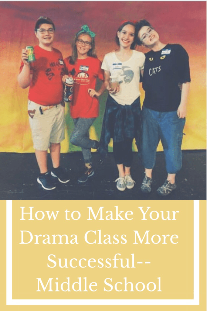 Middle grades drama class