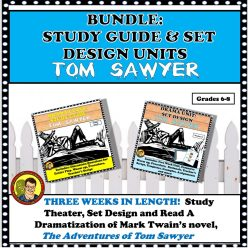 BUNDLE TOM SAWYER STUDY GUIDE AND SET DESIGN