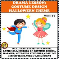 COSTUME DESIGN WITH HALLOWEEN GRADE 3-5 SQUARE COVER 3