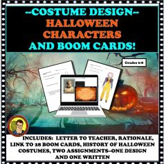 COSTUME DESIGN HALLOWEEN LESSON PLUS BOOM CARDS400