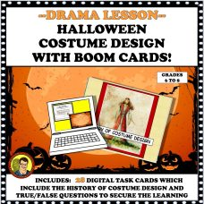 COSTUME DESIGN MIDDLE GRADE BOOM CARDS COVER