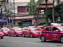 Pink taxis of Bangkok, Thailand