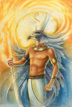 Egyptian god Horus