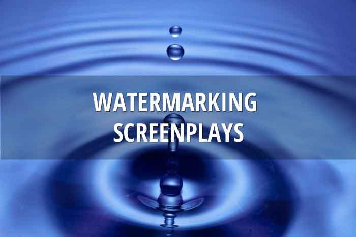 Watermarking screenplays