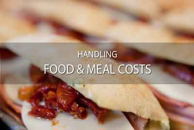 Food lists, meal costs, catering for fil, TV, VR