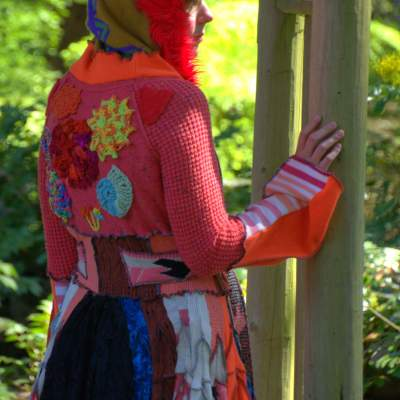 Upcycled Sweater Coat - Whimsical Clothing