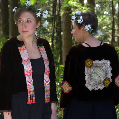 Upcycled Velvet Jacket - Tribal Girl