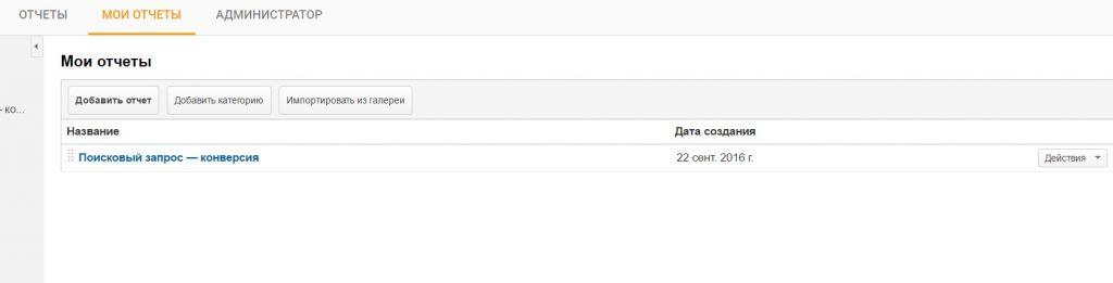 отчеты в Google Analytics
