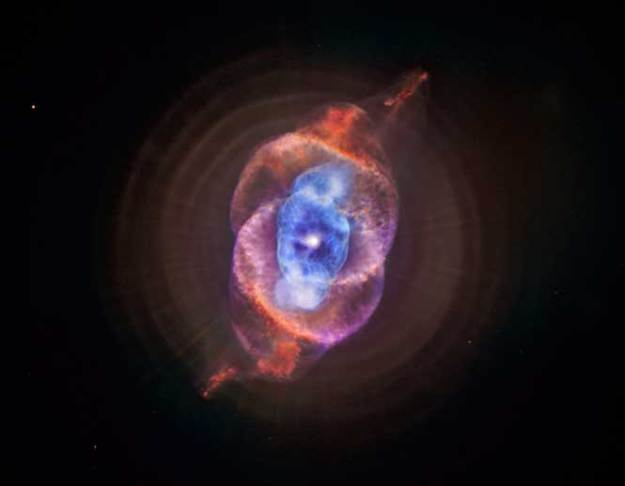 Are you astounded yet? All of this beauty, from the divine mystery. Served up just for you to enjoy. The Cat's Eye Nebula Credit: X-ray: NASA/CXC/SAO; Optical: NASA/STScI