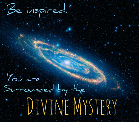It is your job to remember the divine mystery! This image from NASA's WISE telescope