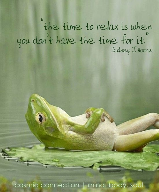 Reducing your stress will boost your natural heart health. Just take it from this frog. Also - the frog is from visboo and the quote was added by Amanda Hurt.
