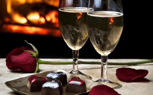 Chocolade en wijn