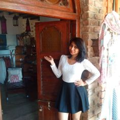 Entrance to their shop.. has hand picked items like clothes, handicrafts, lamps etc.