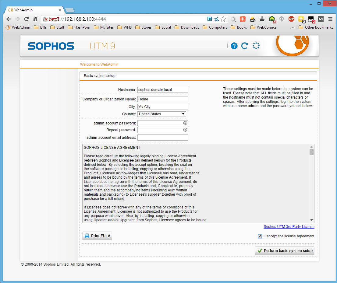 Installing Sophos UTM | Drashna's Demesne