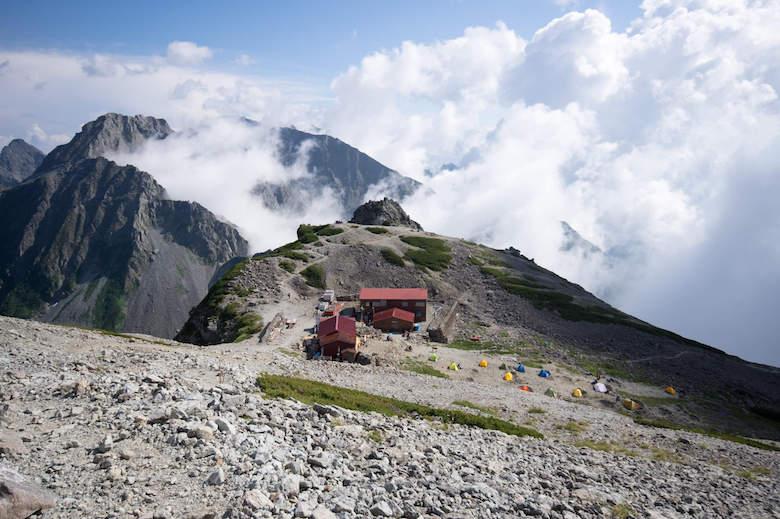 南岳のテント場