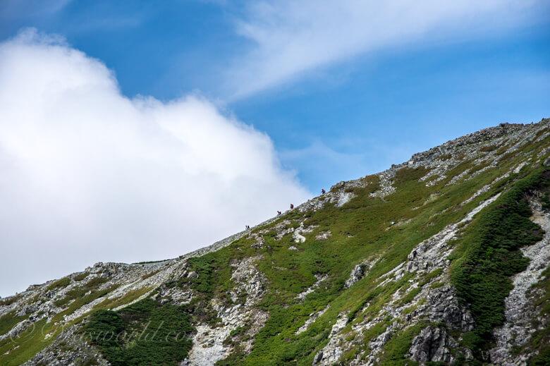 縦走する登山者たち