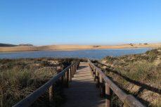 Die Rota Vicentina bei Carrapateira, Steg und Dünen