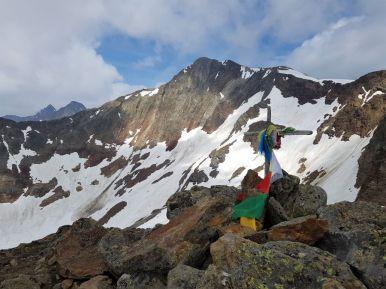 Roter Grat Gipfelkreuz