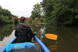 Ich im Kanu auf der Altmühl