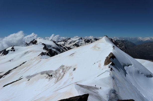 Vergletscherte Berggipfel
