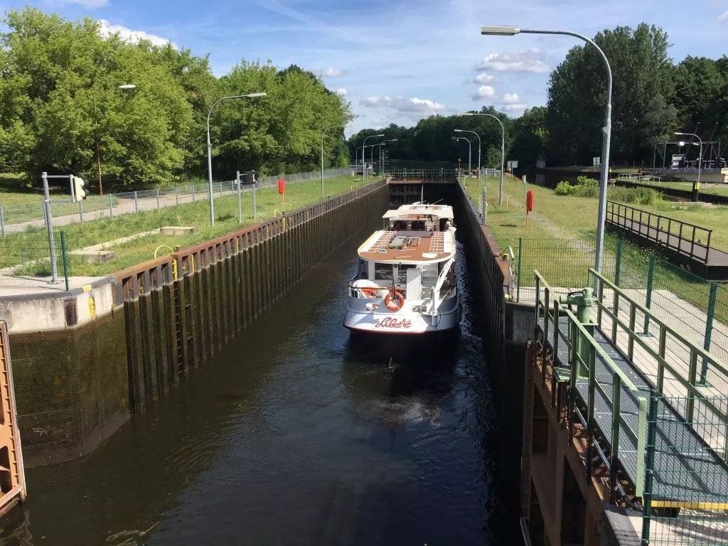 Die Schleuse am Voßkanal bei Liebenwalde