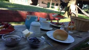 Frühstück in Tobringen auf dem Bauernhof