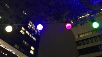 Lichterkette an der Elphi