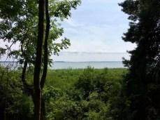 Wanderung auf Usedom: Blick auf das Achterwasser bei Lütow