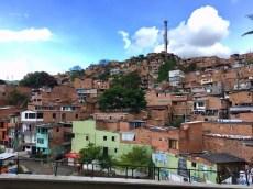 Armenviertel in Medellin