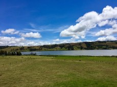 Blick auf die Laguna De Suesca