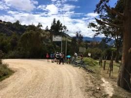 Zwischenstopp beim Aufstieg ab Suesca