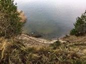Da geht´s 30 m abwärts - der Weg direkt an der Steilküste
