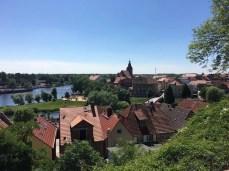 Blick auf die Stadtinsel von Havelberg
