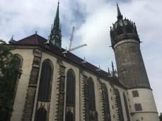 Die berühmte Schlosskirche in der Lutherstadt Wittenberg