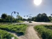 Radweg an der Niendorfer Straße