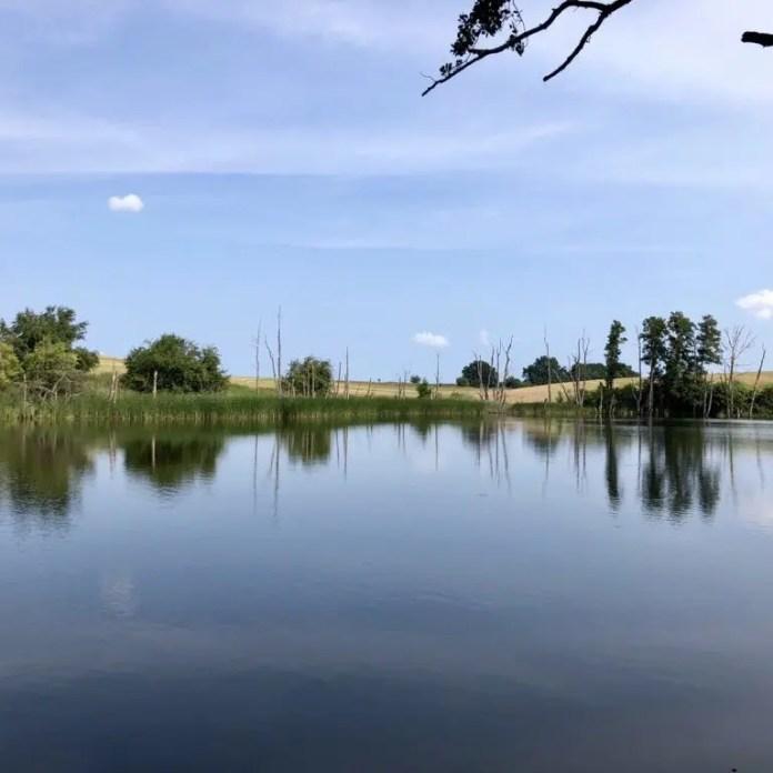 Blick über den Kleinen See bei Lassan