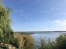 Blick auf den Peenestrom im Hafen von Ziemitz