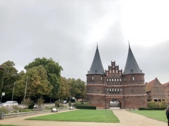 Das berühmte Holstentor in Lübeck