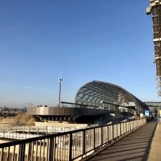 Die neue U-Bahnhaltestelle Elbbrücken