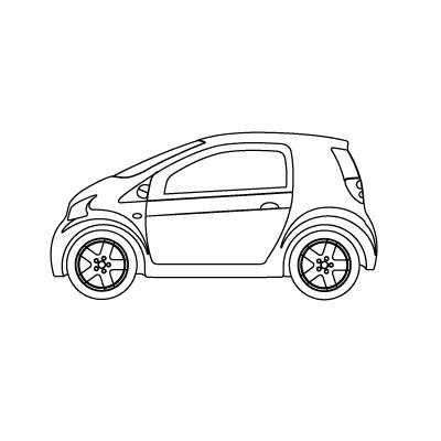 كيفية رسم سيارة