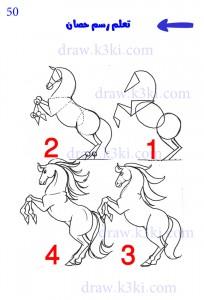 كيف ترسم حصان