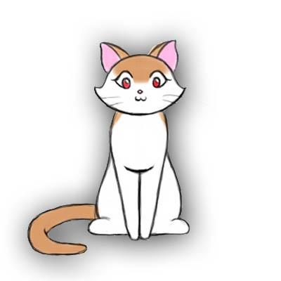 كيف ترسم القطة